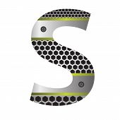 Perforated Metal Letter S