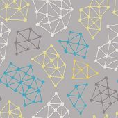 Abstract Pattern. Vector Seamless Background From Triangles And Dots.