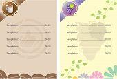Template designs of menu cafe
