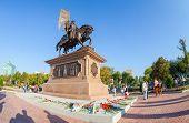 Samara, Russia - September 13, 2014: Bronze Monument To The Founder Of Samara Prince Grigory Zasekin