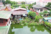 A Riverside Village  In Ayutthaya