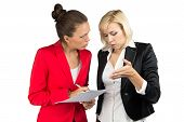 Two business lady making a decision