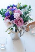 Bouquet Of Purple And Pink Eustomas