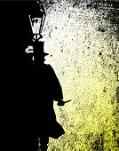 image of ripper  - Jack the ripper by the light of a gas street lamp - JPG