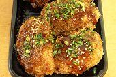 Chicken Milanese With Teriyaki Sauce