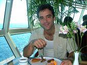 Pequeno-almoço do cruzeiro