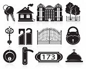 House And Hotel Icons