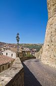 Panoramic view of Oriolo. Calabria. Southern Italy.