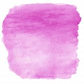 Pink  Spot, Watercolor Abstract Hand Painted Textured Background Isolated On White. Water Color Like