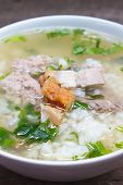 Rice Porridge With Pork.