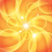 Abstract Orange Sun Light Background