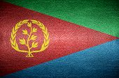 Eritrea Flag Concept On Leather For Background