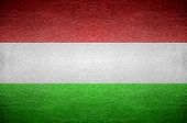 Closeup Screen Hungary Flag Concept Leather