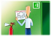 Evacuation plans & fire extinguishe