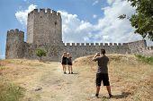 Tourists In Platamonas Castle