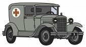 Old military mbulance car
