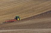Green Tractor Ploughing