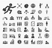 Human Resource Icons Vector Set