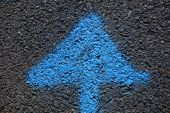 Blue Arrow pointing Upwards
