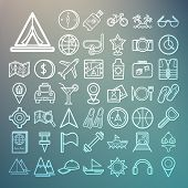Equipment Travel And Sea Icons Retina
