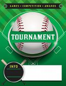 Baseball Tournament Template Illustration