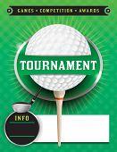 Golf Tournament Template Illustration