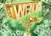 3D Key To Wealth Concept