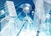 3D Document Management Concept