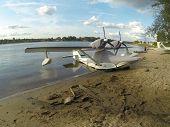 Parking seaplane