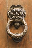 Knocker In The Shape Of Head Of A Man With A Mustache