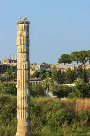 stock photo of artemis  - Ruins of the Temple of Artemis - JPG