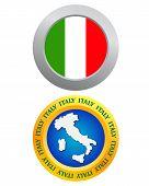 Button As A Symbol Of Italy