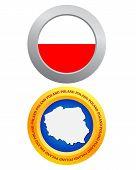 Button As A Symbol Poland