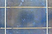 close up solar cell