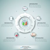 foto of chart  - Modern infographics options banner with 5 - JPG