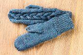 Gray Knitting Mittens