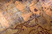 picture of oxidation  - Old grungy copper with oxidation and scratches texture - JPG