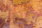stock photo of oxidation  - Old grungy copper with oxidation and scratches texture - JPG
