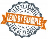 Lead By Example Vintage Orange Seal Isolated On White