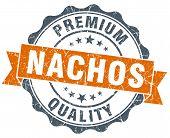 Nachos Vintage Orange Seal Isolated On White