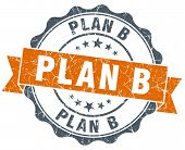 Plan B Vintage Orange Seal Isolated On White