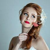 Beauty Woman. Beautiful Model Girl With Fake Lips