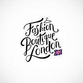 Fashion Boutique London Concept on White