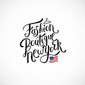 foto of boutique  - Simple Text Design for Fashion Boutique New York Concept with Small U - JPG