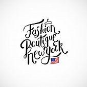 Fashion Boutique New York Concept on White