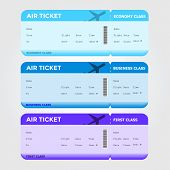 Three Classes Boarding Pass Blue Tint