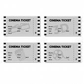 Set of Grey Cinema Ticket