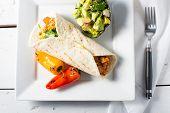 Spicy Cauliflower And Potato Mexican Burrito