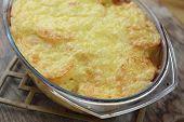 Potato and cheese casserole.