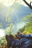 Newlyweds Honeymoon Vacation In Norway.